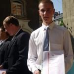 Wojciech Krutnik z trzeciej klasy