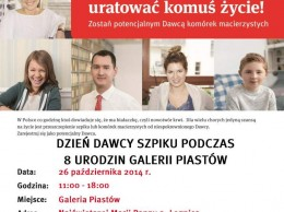 Dzień Dawcy Szpiku-plakat