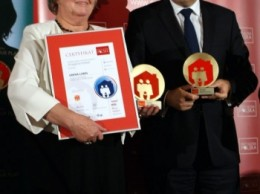 Wójt Gminy Lubin Irena Rogowska i wicepremier Janusz Piechociński