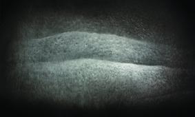 ,,Zbliżenie III, węgiel, 60 x 100cm, 2014''
