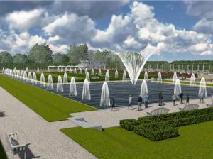 Wizualizacja fontanny Park