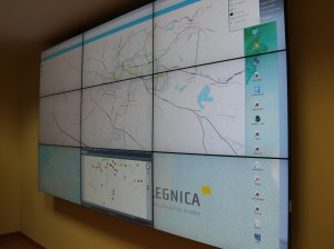 monitory centrum zarządzania ruchem